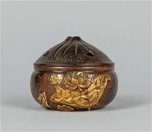 Japanese Taisho Bronze Incense Burner