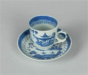 Chinese Export Blue White Porcelain Tea Cup