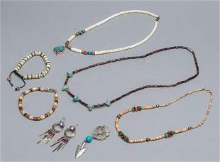 Group Native American Type Trade Bead Necklace and
