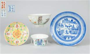 Set Chinese Export Porcelain Wares