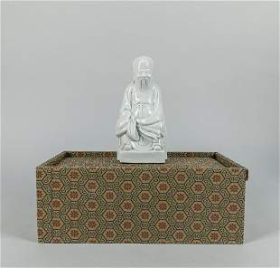 Chinese White Glazed Dehua Type Porcelain Figure