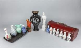 Group of Asian Decorated Porcelain Vase & Box