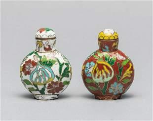 Set of Old Cloisonne Snuff Bottles