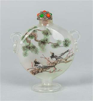 Chinese Inside Painting Glass Snuff Bottle