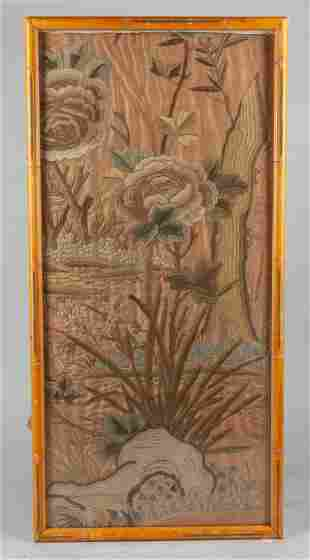 Antique Chinese Wall Hanging Embroidered Painting