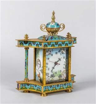 Collectible Enameled Cloisonne Desk Clock