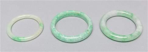 Group Chinese Jade Jadeite Stone Bangles