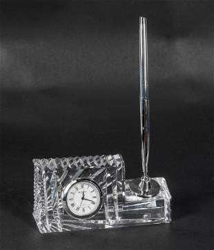Collectible Vintage Waterford Crystal Desk Clock