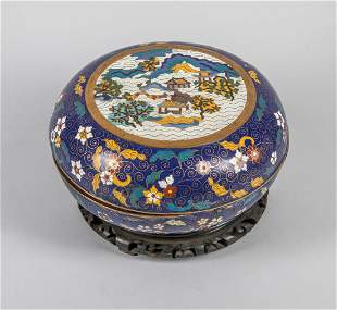 Large Chinese Export Cloisonne Box with Stands