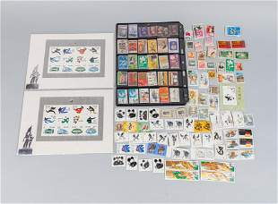 Set Chinese Stamps Collection