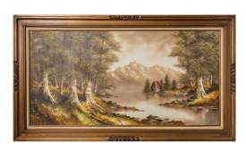 Purvis, Vintage Oil Painting on Canvas Landscapes