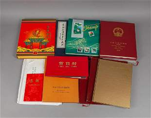 Large Set Vintage Chinese Stamps Collection
