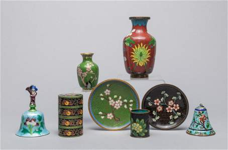 Large Group Chinese Export Cloisonne Pieces