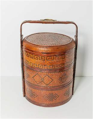 Chinese Old Rattan Basket