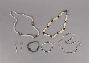 Group of Native American Shell & Lapis Jewelries