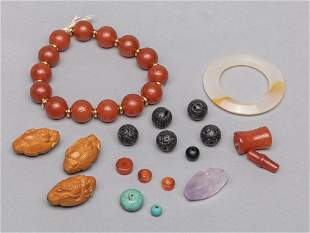 Set Chinese Nuts, Turquoise Beads Collection