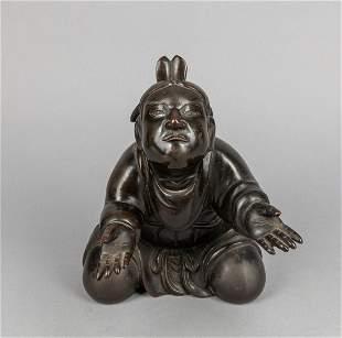 Japanese Taisho Bronze Table Sculpture