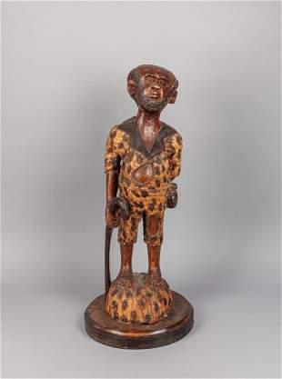 Tall African Wood Carving of Figure