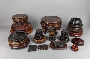 Repaired Sets Chinese Wood Stands
