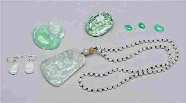 Group Chinese Jade Jadeite Stone Carvings