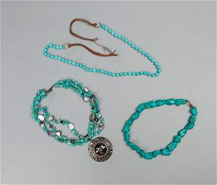 Collectible Designed Turquoise Stone Necklaces