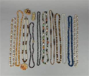 Set Chinese Export Gem Stone /Jade Necklace
