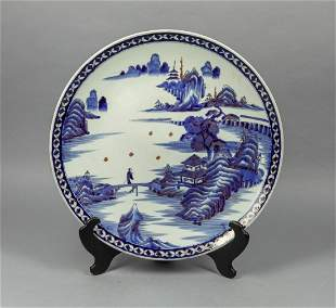 Large Japanese Taisho Porcelain Decor Plate