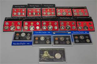 Large Set United States Proof Coins