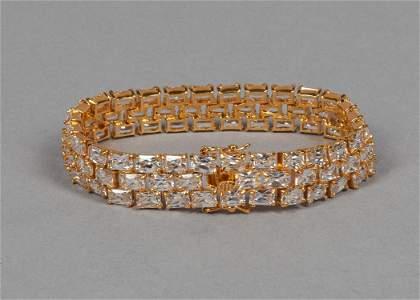 Designed Suzanne Somer Gold on Silver Bracelet