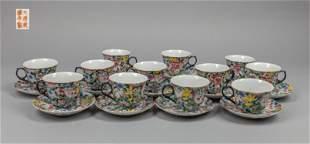 Chinese Republic Period Famille Rose Porcelain Tea Set