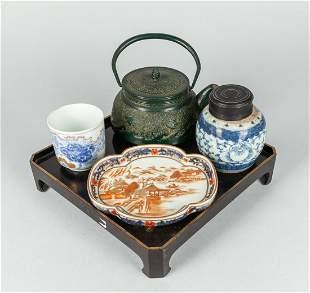 Set Japanese Porcelain & Lacquer Tea Wares