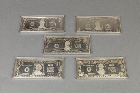 Set 999 Fine Silver Bars