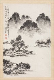 Chinese Ink Panting of WaterFront