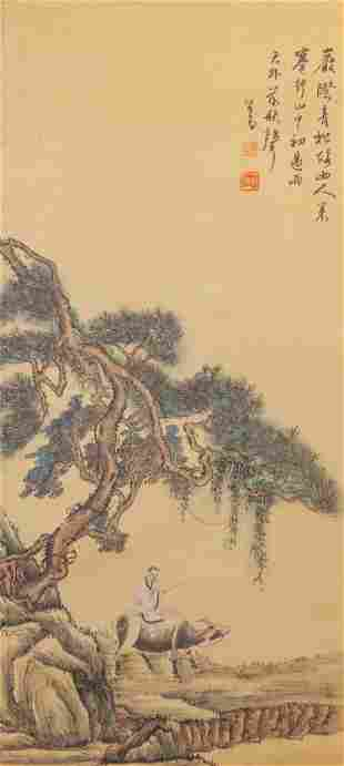 Chinese Wall Hanging Water-color Painting