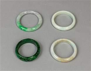 Group Chinese Jade/Stone Bangles