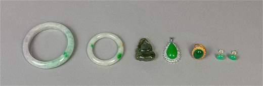Set Estate Chinese Jade/Stone Jewelry