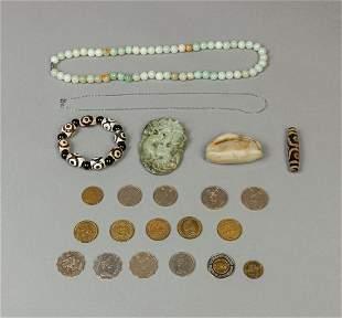 Set Estate Chinese Jade & Jewelry