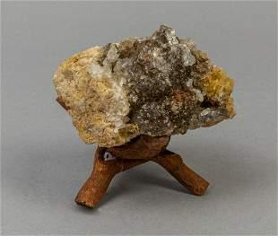 Rare Garnet & Gold Crystal Crystalline Mineral