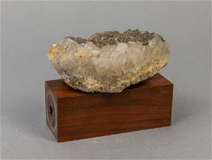 Rare Pyrite Crystal Crystalline Mineral Table Sculpture