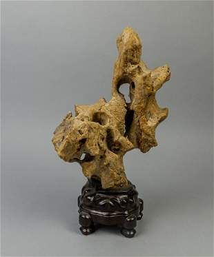 Chinese Scholar Stone Table Sculpture