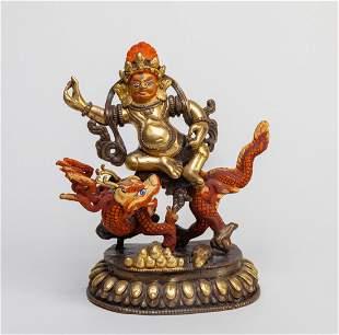 Chinese Sino-Tibetan Gilt Bronze Buddha