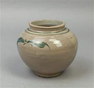 Korean Blue White Porcelain Jar