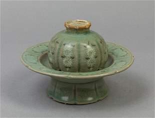 Korean Buncheong Glazed Porcelain Tea Cup
