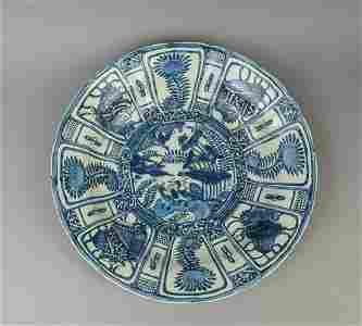 Massive Chinese Export Blue White Clark Porcelain Plate