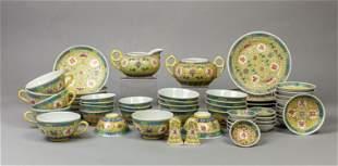 Set Chinese Royal Color Porcelain Dinning Service