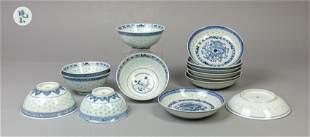 Set Chinese Blue White Porcelains