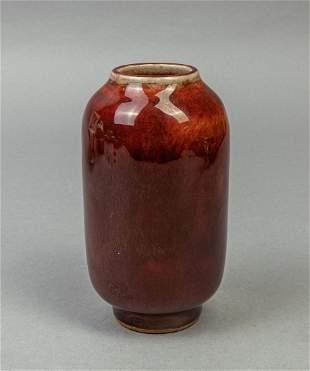 Chinese Ox-blood Color Glazed Porcelain Vase