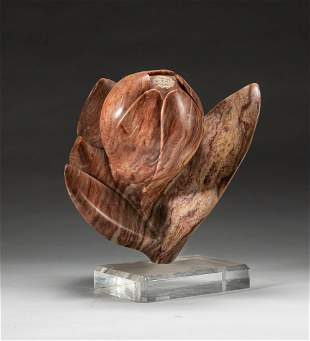 Collectible Marble Table Sculpture of Bud