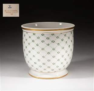Collectible France Vincennes Porcelain Ice Pot