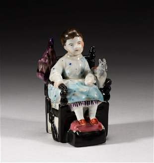 Collectible France Covered Porcelain Figure